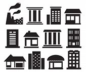 Set Urban Building Icons