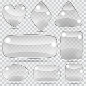 Set Of Transparent Glass Shapes