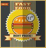 Fast Food Menu. Hot Hamburger.