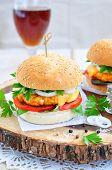 stock photo of beef-burger  - Hamburger  - JPG