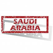 pic of saudi arabia  - Outlined red stamp with country name Saudi Arabia - JPG