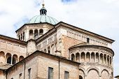 image of pilaster  - detail of Parma Cathedral - JPG
