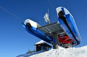 pic of serbia  - Last stop of ski lift with small cottage and frozen antenna in background ski resort Kopaonik Serbia - JPG
