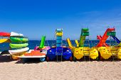 pic of chute  - Water attractions waiting for tourists on beach - JPG