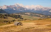 foto of south tyrol  - Seiser Alm and Rosengarten in South Tyrol - JPG