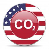 foto of carbon-dioxide  - carbon dioxide original american design modern icon for web and mobile app on white background - JPG