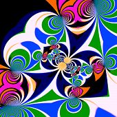 stock photo of psychedelic  - Psychedelic style background - JPG