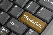 picture of mentoring  - Brown mentoring key on keyboard - JPG