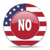 image of day judgement  - no american icon original modern design for web and mobile app on white background  - JPG