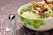 stock photo of wanton  - Mien ga or vietnamese vermicelli with chicken meat - JPG