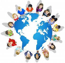 image of globalization  - Global Globalization World Map Environmental Conservation Concept - JPG