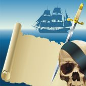 picture of frontlet  - Composition with pirate - JPG