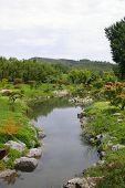 River In A Zen Garden