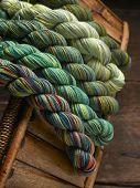 Colorful Yarn on Basket