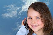 Beautiful Girl And Telephone.