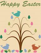 Fondo de árbol de Pascua retro