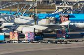Aircraft Unloading Cargo