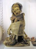 picture of embalming  - Female mummy of a twenty years old inca