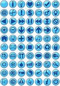 Illustrations of Web icons in blue