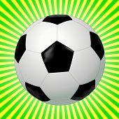 Black and white soccer ball - VECTOR
