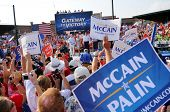 O'FALLON - AUGUST 31: Senator McCain, wife Cindy and entourage make appearance at a rally in O'Fallo