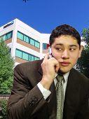Junior Executive On A Call