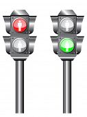 illustration of Traffic light or semaphore