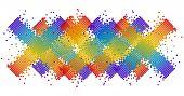 abstrato pixel em várias cores vetor ilustrado