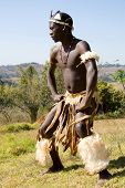foto of zulu  - african zulu dancer - JPG