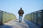 Man On Bridge
