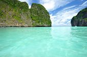 stock photo of phi phi  - Beautiful lagoon at  Phi Phi Ley island - JPG