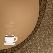 Background with coffee
