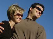 Couple Against The Sky