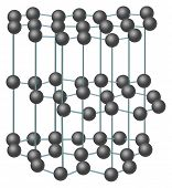 illustration with carbon crystal structure