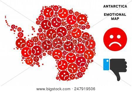 Emotion Antarctica Map Composition Of