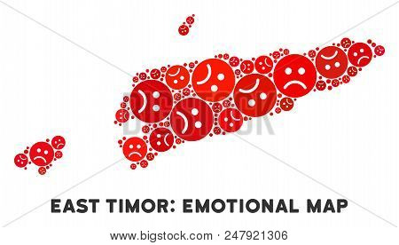 Sorrow East Timor Map Mosaic