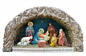 stock photo of magi  - a traditional ukrainian christmas model of nativity scene with the child the mother mary and joseph shepherds and adoration of the magi - JPG