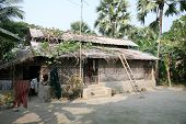 picture of sundarbans  - A simple house in Bengali village - JPG