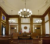 picture of courtroom  - Historic Pioneer Courthouse Courtroom in Portland Oregon Downtown - JPG