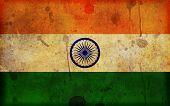 picture of ashok  - An old dirty and stained grunge style illustration of the flag of the Republic of India  - JPG