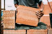 Masonry Details - Professional Constructor, Worker Building Exterior Walls poster
