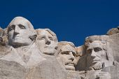 stock photo of mount rushmore national memorial  - Mount Rushmore on a Sunny Cloudless Day - JPG