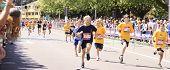 Los niños maratón corrido la carrera