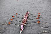 Georgia Tech University races in the Head of Charles Regatta