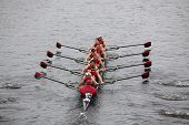 Rutgers University races in the Head of Charles Regatta