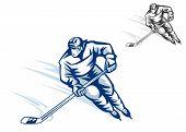 Moving Hockey Player