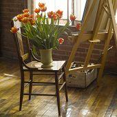 Still Life Shot Of Art Studio