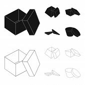 Case, Shell, Framework, And Other  Icon In Black, Outline Style.box, Container, Package Icons In Set poster