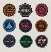 Collection of vintage round badges