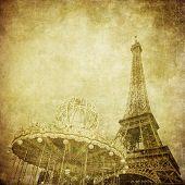 复古形象的埃菲尔铁塔,巴黎,法国